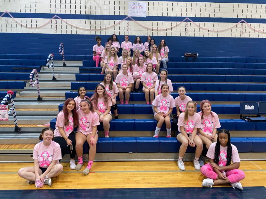 Girls Volleyball Takes Down Rising Sun In Dig Pink Game